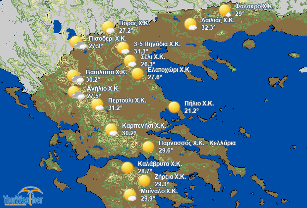 Weather map of